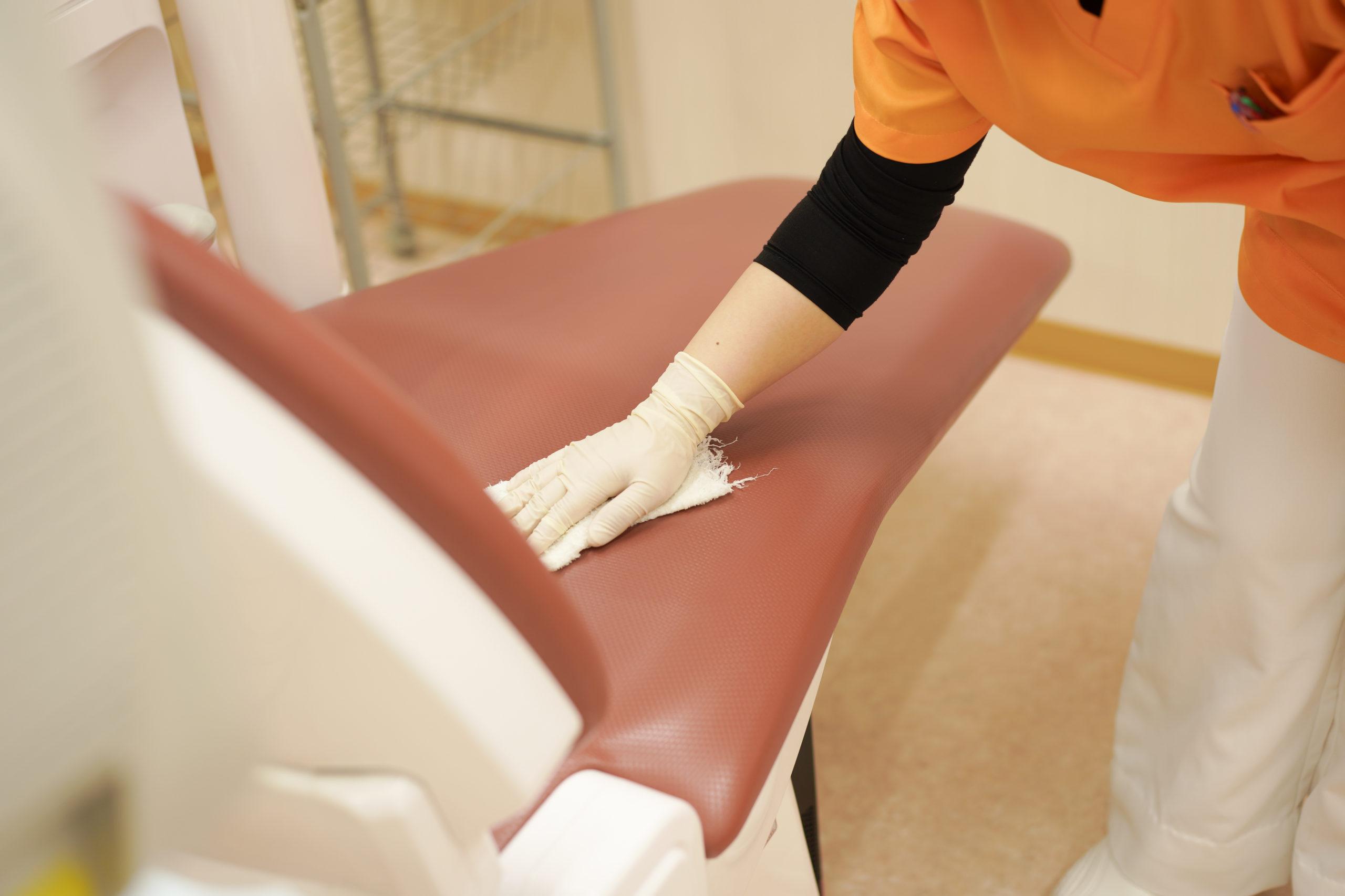 久喜市 いしはた歯科クリニック ユニットの除菌
